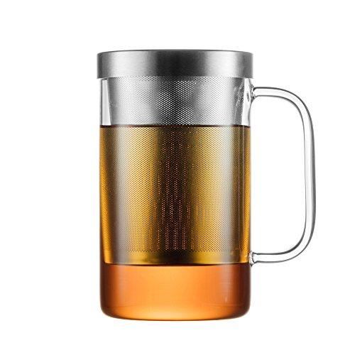 GAIWAN PURE550S - Vaso de té con infusor y tapa incorporados, volumen útil 500 ml - Apto para lavavajillas - Resistente al calor