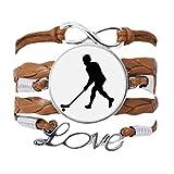 DIYthinker - Pulsera de deporte para hockey o correr, para educación física, cadena de amor, adorno de cuerda