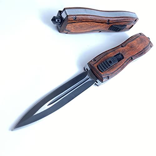 Kesuod Camping Hunting EDC Double Aciton Folding Knives Pocket Knife