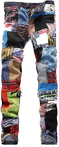 Bestfort Herren Jeans elastische Lokomotive Stretchhosen M Jeanshosen Gerade Denim Hosen Lokomotive XL Jeans
