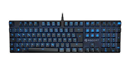 Roccat Suora Mechanical Tactile Gaming Tastatur (UK-Layout, mechanische Tasten, rahmenlos, Indirekte Tastenbeleuchtung) schwarz