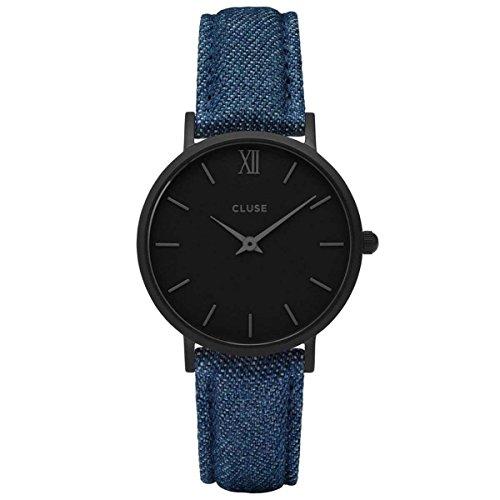 Cluse Unisex Erwachsene Digital Quarz Uhr mit Leder Armband CL30031