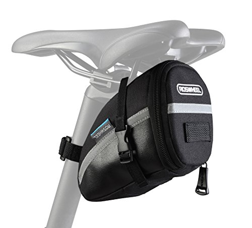 Great Features Of Roswheel 131455 Water Resistant Bike Saddle Bag Bike Under Seat Pack Quick Release...