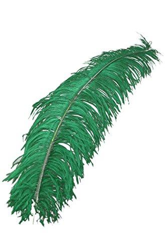 PARTY DISCOUNT ® Straußenfeder, 50-60cm, grün