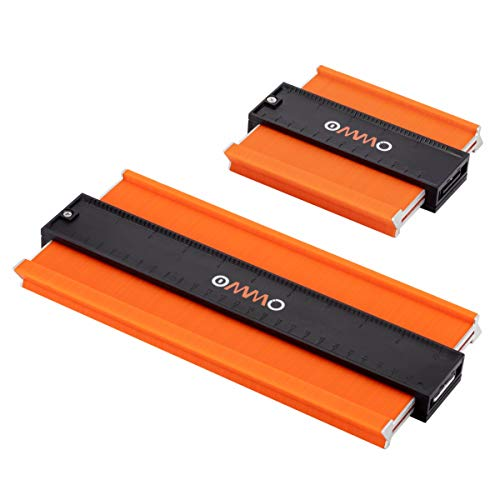 2 Stücke Konturenlehre mit Aluminiumkern, OMMO 250 mm und 13 mm Magic Kontur, Konturenlehre groß für Unregelmäßiges Profil, Fliesen uvm, Teppiche und Laminat