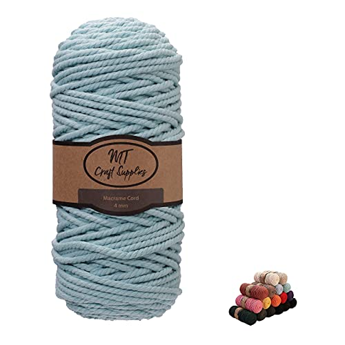 MT Craft Supplies Macrame Cord 4mm x 110 Yard 3 Strand Twisted Soft Natural...