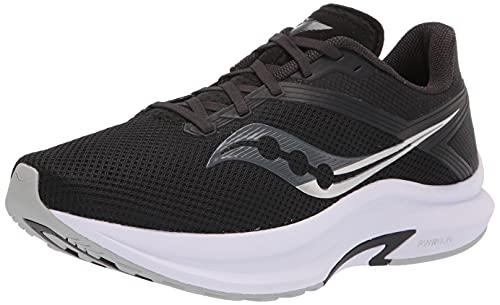 Saucony Women's Axon Road Running Shoe, Black/White, 8.5