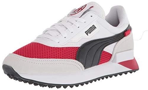 PUMA unisex adult 365 1 Soccer Shoe, Puma White-tango Red -Puma Black-gum, 8.5 Women 7 Men US