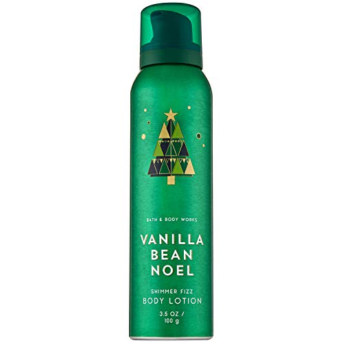 Bath and Body Works Vanilla Bean Noel Shimmer Fizz Body Lotion 3.5 Ounce (2018 Edition)
