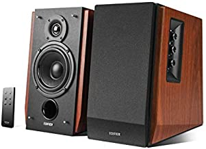 Edifier R1700BT Bluetooth Bookshelf Speakers - Active Near-Field Studio Monitors - Powered Speakers 2.0 Setup Wooden Enclosure - 66w RMS (Renewed)