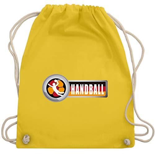 Shirtracer Handball WM 2019 - Handball Deutschland 2 - Unisize - Gelb - Fan - WM110 - Turnbeutel und Stoffbeutel aus Baumwolle