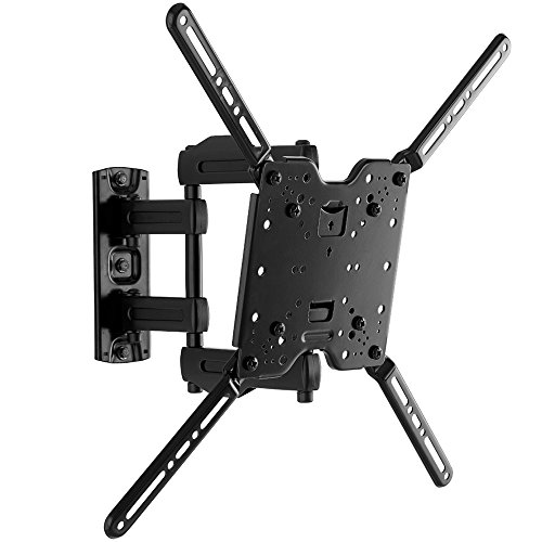 'Made for Amazon' Sanus Full-Motion TV Wall Mount for 32' to 80' TVs - Universal Design is Compatible with Fire TV Editions, TCL, Samsung & More