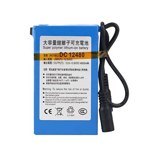 Tamaño Compacto 12V CC 4800MAH Capacidad de Super Gran Recargable de Ion de Litio de la batería Uso Duradero para la cámara de Circuito Cerrado de televisión