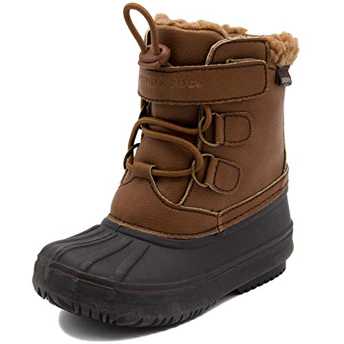 LONDON FOG Boys Oxford Toddler Cold Weather Snow Boot Cognac 10