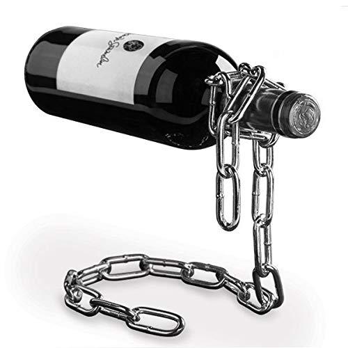 El botellero con cadena mágica suspendida original. Idea para regalo, diseño o como decoración