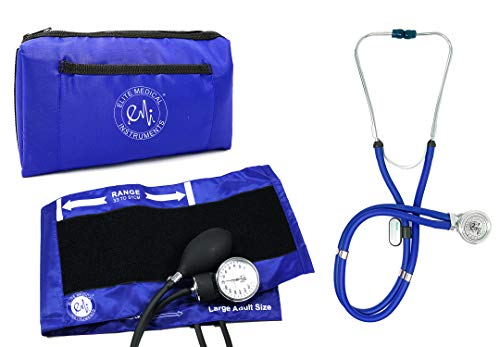 EMI EBL-430 Royal Sprague Stethoscope and Large Adult Cuff (Cuff Size: 33 cm to 51 cm   13 inch to 20 inch) Aneroid Sphygmomanometer Manual Blood Pressure Set