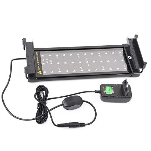 Tanque de Peces para Acuario, 36 Luces Luces sumergibles, Luces LED sumergibles con Soportes Extensibles, Ajustable para Acuario, luz para Acuario, con Soporte para acuarios y estanques, 30 cm