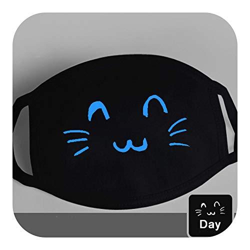 Cartoon Cotton Gesichtsmaske | Netter Anime-Bär Maske Night Glow Dunkler Halloween-Maskerade-Cosplay Zähne Schädel-Masken Winter-Staubdichtes Maske, Stil