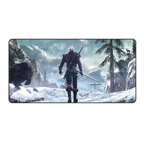 CFTGB Gaming Mouse Pad Grote Muis Mat Witcher Game Toetsenbord Mat Tafelmat Uitgebreide Mousepad voor Computer PC Bureau Desktop Mouse Pad