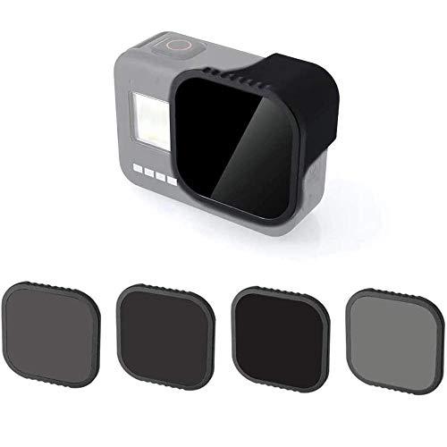Linghuang 4 pezzi Filtro Lenti Magnetiche per Gopro Hero 8 Black Camera Accessori Lenti Set ND8 ND16 ND32 CPL Densità Neutra e Polarizzati Filtri Protezione