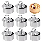 Set of 8 - Round Cake Ring Cake Molds, Stainless Steel Mousse and Pastry Mini Baking Ring Mold, Food Rings Cake Rings Dessert Rings Set Including 8 Rings & 8 Food Presses (3.15