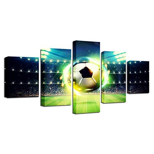 Xiasea Leinwandbilder Fußball Wulian Malerei Wandbild Kunst dekorative Malerei ohne Rahmen-20X35cmX2 20X45cmX2 20X55cmX1