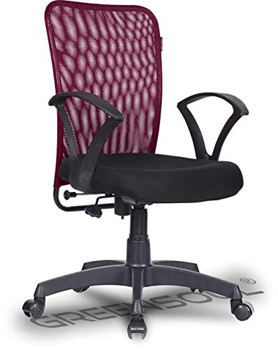 Green Soul® Seoul Mid Back Office/Study Chair for Home (Confident Maroon)