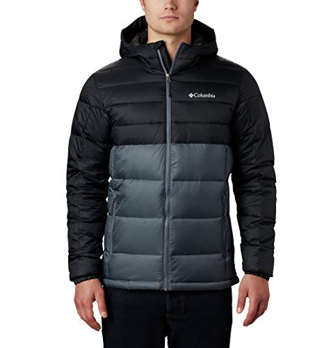 Columbia Buck Butte Insulated Hooded Jacket, Giacche (Shells) Uomo, Graphite, Black, L