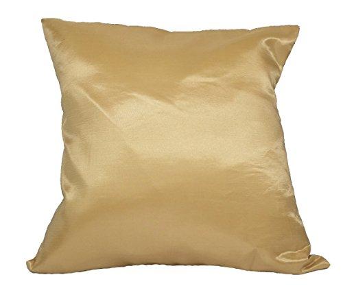 cozymomo 1par oro manta funda de almohada decorativa sofá sofá de funda de cojín con cremallera 16x 16Inchs (40x 40cm)