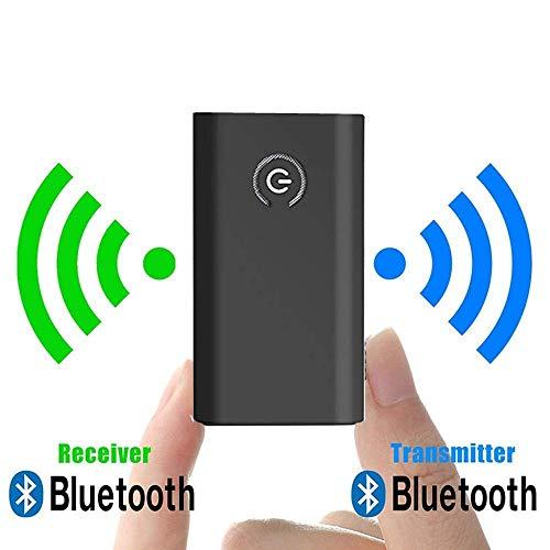 Bluetooth5.0トランスミッター レシーバー Bluetooth 発信機 受信機 ワイヤレス オーディオ 低遅延 小型 3.5mmオーディオケーブル付き 一台二役 スピーカー/イヤホン/テレビ/車