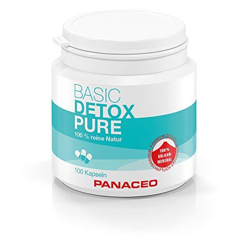 Panaceo Basic Detox pure: Veganes Medizinprodukt aus 100% Zeolith, zur Entgiftung des Darms, Kapseln, 2-Wochen-Kur, 100 Stk.