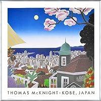 ポスター トーマス マックナイト 神戸 日本 額装品 アルミ製ベーシックフレーム(シルバー)