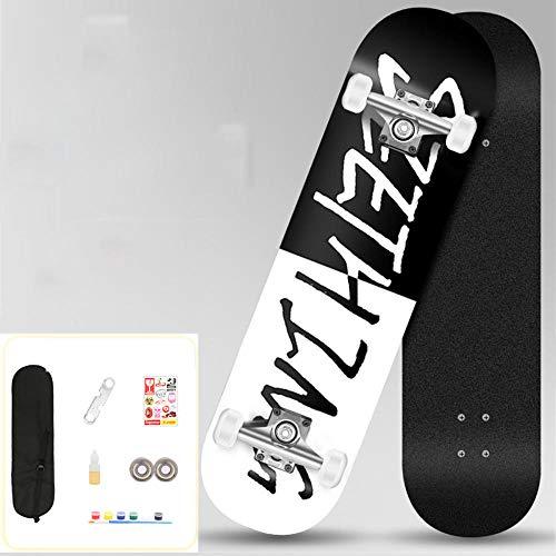 YSCYLY Longboard,80 * 20cm Skateboard Doppelwippe mit Action Rädern,Funboard FÜR AnfäNger Und Profis