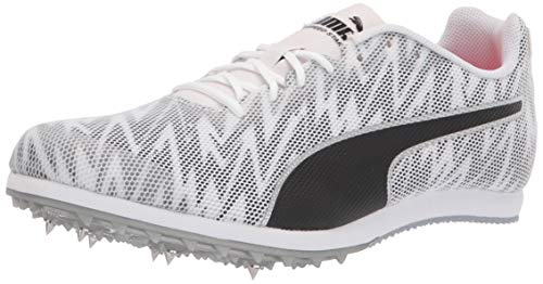 PUMA Men's Evospeed Star 7 Track and Field Shoe, White Black Silver, 5.5