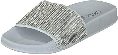 Siebi's Vincenza Badeschuh extra leicht mit Fußbett Pantoletten für Damen: Größe: 41 EU   Farbe: Weiß