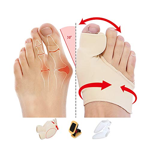 Orthopedic Bunion Corrector Toe separators & Bunion Corrector Improved Version with Built-in Silicone 2020 New 7-Pack (Bunion A-7P)