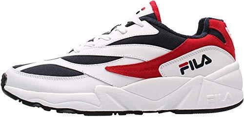 FILA V94M Low Zapatillas Moda Hombres Blanco/Rojo - 45 - Zapatillas Bajas