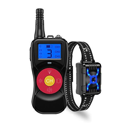 XSEJ Cuello de Corte de Control Remoto para Perros con Spray // Dispositivo Anti-ladrido de Cuello de Sonido/Ligero, Adecuado para Perros Grandes, medianos y pequeños