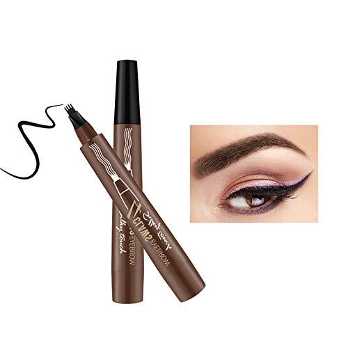 Onlyoily Tattoo Augenbrauenstift mit 4 Fork Tips, Wasserdicht Langanhaltend Augenbrauenstift Eyebrow Pencil Tattoo Eyebrow Pen für Natürlich Augen Make-up (02)
