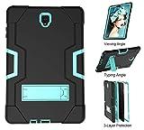 Lopda Compatible con Samsung Galaxy Tab A 8 Case 2018 Release Verizon para modelos Sm-T387 y 2017 T380/T385 [No compatible con 2015 Tab A 8.0 Sm-T350] Funda tipo cartera para tarjetas (Negro)