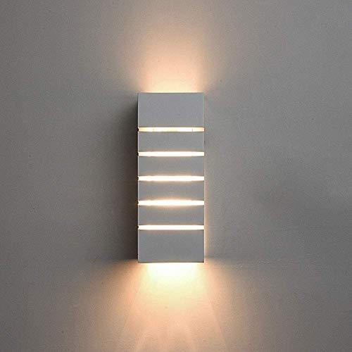 DINGYGJ Luz De Pared LED Para Interiores Luces De Decoración Del Hogar Moderno Rectángulo Simple Protección Del Medio Ambiente Escayola Cuerpo De Lámpara 5W Resalte G9 Cálida Fuente Luz [Clase De Efic