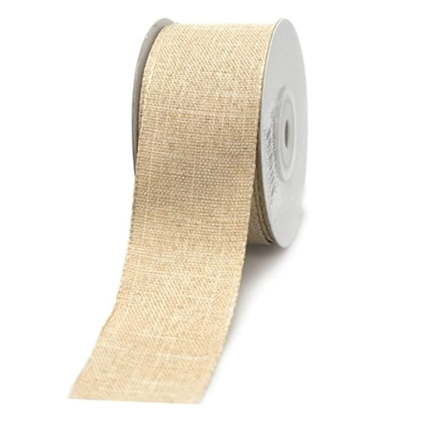 Homeford Firefly Imports Cotton Woven Wired Edge Ribbon, 1-1/2-Inch, 10 Yards, Ivory
