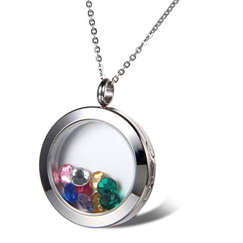 Cupimatch 925 Silber Mond & Stern Kette Damen mit Swarovski Element Kristall Zirkonia Halskette für Mädchen 45+5cm (Typ7)
