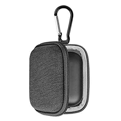 Geekria UltraShell Headphones Case Compatible with Echo Buds Wireless Bluetooth Earbuds Case, Replacement Hard Shell Travel Carrying Bag with Cable Storage (Grey)