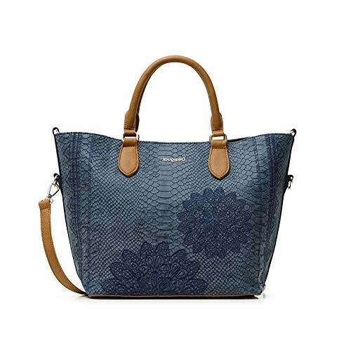 Desigual Womens PU HAND BAG, Blue, U