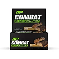 12-Count MusclePharm Combat Crunch Peanut Butter Lovers Protein Bar