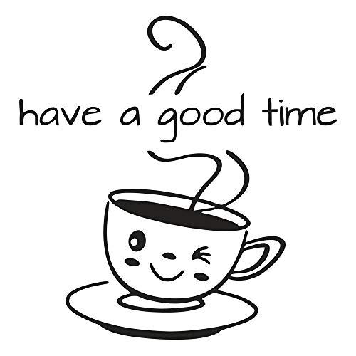 Pegatinas de pared para café, taza de té, libro de pared, decoración de murales, para decoración de casa, cocina