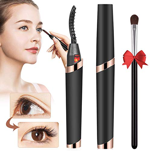 Heated Eyelash Curler Electric USB Rechargeable Quick Heating Long Lasted Curled Painless Curved Beauty Make up Tool【2020 NEWEST VERSION】