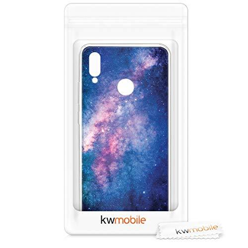 kwmobile Huawei Honor 8X Hülle - Handyhülle für Huawei Honor 8X - Handy Case in Galaxie Sterne Design Rosa Pink Dunkelblau - 6