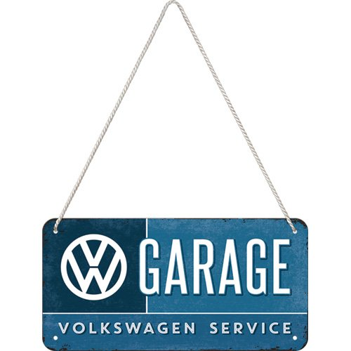 Nostalgic-Art 28004, Volkswagen VW-Garage, 10x20 cm Hängeschild, Metall, bunt, 10 x 20 x 0.2 cm